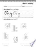Pre Kindergarten Foundational Phonics Skills  Primary Sound g