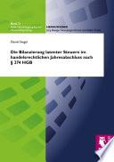 Die Bilanzierung latenter Steuern im handelsrechtlichen Jahresabschluss nach § 274 HGB