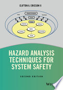 Hazard Analysis Techniques for System Safety