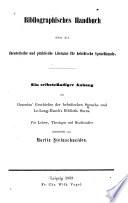 Bibliographisches Handbuch über die theoretische und praktische Literatur für hebräische Sprachkunde