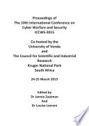 Iccws 2015   The Proceedings of the 10th International Conference on Cyber Warfare and Security