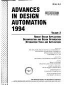 Advances in Design Automation  1994  Robust design applications  Decomposition and design optimization  Optimization tools and applications