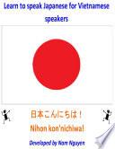 Learn to Speak Japanese for Vietnamese Speakers