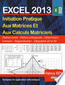 illustration du livre Les Matrices Avec EXCEL 2013
