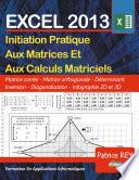 illustration Les Matrices Avec EXCEL 2013