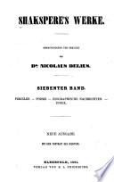 Bd. Pericles. Poems. Biographische nachrichten. Index