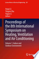 Proceedings of the 8th International Symposium on Heating  Ventilation and Air Conditioning