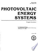 Photovoltaic Energy Systems