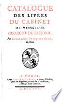 Catalogue des livres du cabinet de m  G    D    P     La vente se fera vers la fin du mois d avril