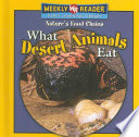 What Desert Animals Eat