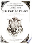 Premier registre de livre d or de la noblesse de France