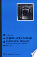 William Carlos Williams in deutscher Sprache