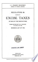 Regulations 46 Relating to Excise Taxes on Sales by the Manufacturer Under Sections 602 to 611, Inclusive, 613, and 614 of the Revenue Act of 1932