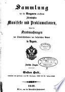 Sammlung der für Ungarn erlassenen Allerhöchsten Manifeste und Proklamationen