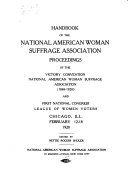 Book The Hand Book of the National American Woman Suffrage Association and Proceedings of the ... Annual Convention