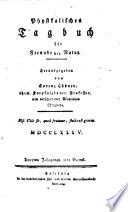 Physikalisches Tagbuch für Freunde der Natur. Hrsg. von Lorenz Hübner (etc.)