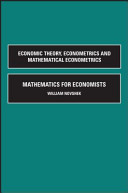 Mathematics For Economists : the topics covered in advanced microeconomics courses. it...