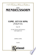 Come Let Us Sing Psalm 95 Opus 46