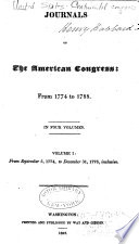Journals of the Continental Congress