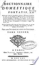 Dictionnaire domestique portatif  contenant toutes les connaissances relatives a l oeconomie domestique   rurale