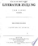 ALLGEMEINE LITERATUR-ZEITUNG.