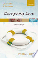 Q A Company Law 2008 And 2009 book
