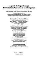 Aquatic Dialogue Group  Pesticide Risk Assessment and Mitigation