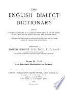 The English Dialect Dictionary  T Z  Supplement  Bibliography  Grammar