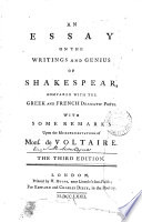 An Essay on the Writings and Genius of Shakespear
