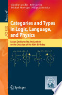 Categories and Types in Logic  Language  and Physics
