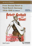 From Second Reich to Third Reich  Germany  1918 1945
