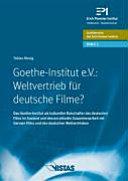 Goethe Institut e V   Weltvertrieb f  r deutsche Filme