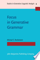 Focus in Generative Grammar