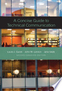 A Concise Guide to Technical Communication, Second Canadian Edition,