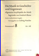 Die Musik in Geschichte und Gegenwart