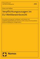 Verpflichtungszusagen im EU-Wettbewerbsrecht