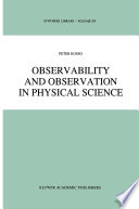 Observability and Observation in Physical Science