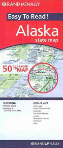 Rand McNally Easy to Read! Alaska State Map