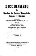Diccionario De Recetas De Cocina Reposter A Helados Y Bebidas