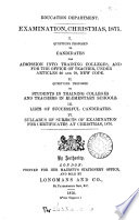 Examination Christmas,1875