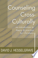 Counseling Cross Culturally