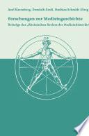 Forschungen zur Medizingeschichte