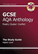GCSE Anthology AQA Poetry Study Guide  Conflict  Higher