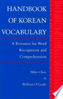 Handbook of Korean Vocabulary