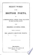 Select Works of the British Poets  From Falconer to Sir Walter Scott