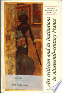 Art Criticism and Its Institutions in Nineteenth-century France