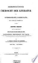 Bibliographisch statistische   bersicht der Literatur des   sterreichischen Kaiserstaates  vom 1 Jaenner 1853 bis 31 December 1855