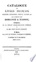 Catalogue des livres français