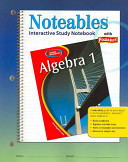 Glencoe Algebra 1 Noteables Interactive Study Notebook With Foldables