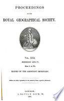 Proceedings Of The Royal Geographical Society Of London